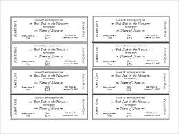 Numbered Tickets Template Free Original Raffle Ticket Numbering Free