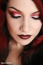 hair red eyeshadow makeup tutorial