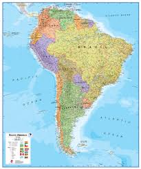 south america  wall map paper  round world products