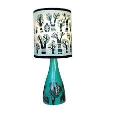 turquoise lamp base table lamps bubble glass small duck egg blue bedside