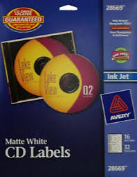 Details About 3x Avery Matte White Cd Labels For Inkjet Printers 28669 16 Disc 32 Spine Labels