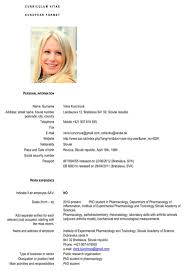 Download Slovakia Cv Template For Free Formtemplate