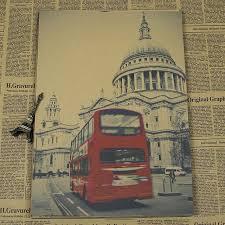online shop new arrival vintage home decor poster london bus