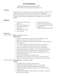 Restaurant Waiter Resumes Resume Template Waitress Restaurant Waiter Resume Waitress Resume