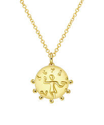 all gone 18k gold plated circle of life pendant necklace