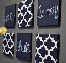 navy blue and gray wall art