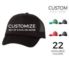 Custom Trucker Hats Solid Color Print Minimum 6 Pcs Single Colors