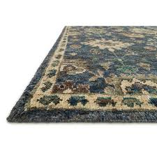 loloi empress 12 x 15 hand knotted jute rug in denim and beige
