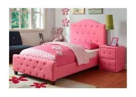 girls upholstered bed. Exellent Bed Image Is Loading UpholsteredTwinBedWoodFramePinkGirlsBedroom In Girls Upholstered Bed