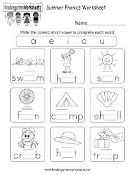 Vowel worksheets for preschool and kindergarten, including beginning vowels, short vowels, long vowels and vowel blends. Tremendous Kindergarten Phonics Worksheets Picture Inspirations Liveonairbk