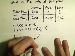 solving word problems in distance rate and time using quadratics example 2 you
