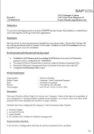 Sap Bi Resume Sample Sap Bi Sample Resume For 2 Years Experience