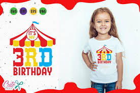 Free party hat cut file, free birthday clipart. Its My 3rd Birthday Circus Party Svg For Crafters 194585 Cut Files Design Bundles