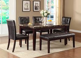 marble living room table. Homelegance Teague Faux Marble Dining Set - Espresso Living Room Table