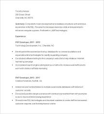 Free PHP Developer Resume Download