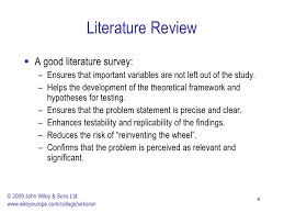 Importance literature review research process marketing SlideShare