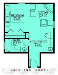 home design mother law suite addition house plans floor cabin free with loft garage material list apartment plan one room bedroom bath layout small unique