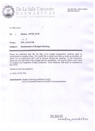 de la salle university dasmari ntilde as m2014 059 reschedule of budget meeting