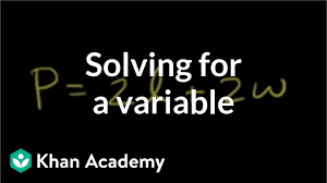 solving for a variable linear equations