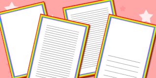 Rainbow Themed Page Borders Rainbow Themed Page Borders