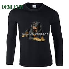 Rottweiler Size Chart Hot Sell Mens Long Sleeve O Neck Cotton T Shirt Rottweiler Dog Fashion T Shirt Male Harajuku Tees Tops Hip Hop Streetwear