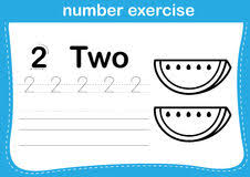 number exercise with cartoon coloring book ilration vector vector ilration