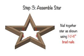 diy star decor free plans step 3
