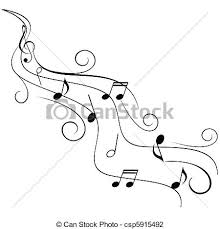 Stave Music Music Notes On Swirl Stave