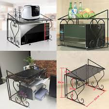 kitchen counter cabinet. Image Is Loading Microwave-Oven-Rack-Kitchen-Organizer-Counter-Cabinet -Storage- Kitchen Counter Cabinet