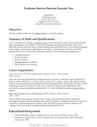 Example Of Best Customer Service Resume Provided Customer Service Resume