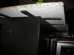 countertop island support brackets for overhangs