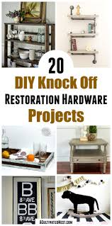 20 restoration hardware inspired diy projects whether you call them knock offs or copycat decor