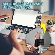 <b>Notebook</b> Screen <b>Side Phone Holder</b> Clip On Monitor for <b>Laptop</b> or ...