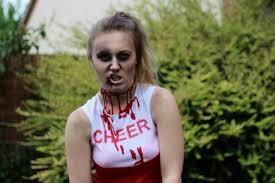 zombie cheerleader make up tutorial