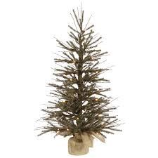 Plain Design 3 Foot Artificial Christmas Trees Prelit Table Top .