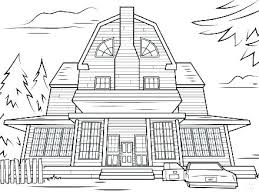 Haunted Houses Coloring Pages Houses Coloring Pages White House