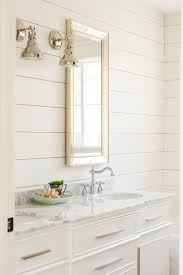 mouse house master bath shiplap is sw alabaster