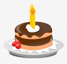 Clip Art Cake One Candle Birthday Cake Png Download 48228