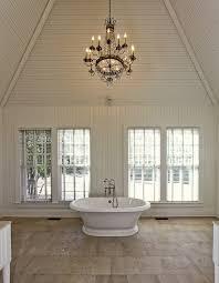 vaulted ceiling bathroom