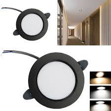 Black Modern Light Details About 5w Dimmable Led Recessed Ceiling Light Fixture Black Modern Lamp Home Downlight