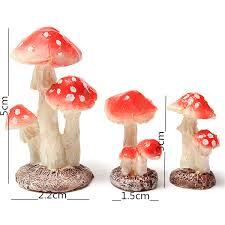 toadstools mushrooms garden ornament 5cm for plant pots fairy diy garden decor