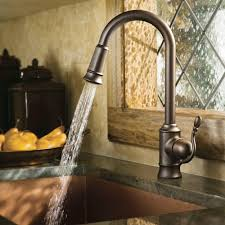Rubbed Bronze Kitchen Faucet Moen Woodmere Single Handle Pull Down Sprayer Kitchen Faucet