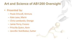 Art and Science of AB1200 Oversight 1 BASC Fall Conference ppt download