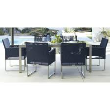 Dune outdoor furniture Sand Dune Dune Outdoor Furniture Dune Rectangular Dining Table With Painted Charcoal Glass Crate And Barrel Dune Outdoor Doomtown Dune Outdoor Furniture Doomtown