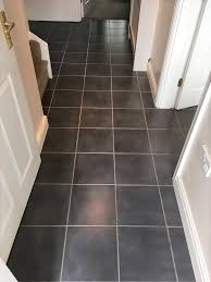 ceramic tiled kitchen floor after grout cleaning in childs ecrall