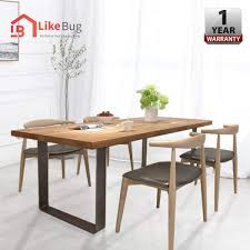 Like Bug 100cm Viera Round Solid Wood Dining Table With 4 Dining