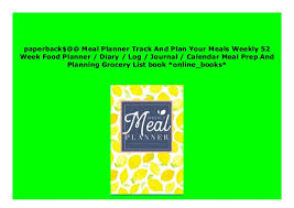 online meal calendar p d f_book meal planner track and plan your meals weekly 52