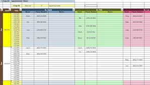 excel for scheduling appointment and scheduding spreadsheet templates