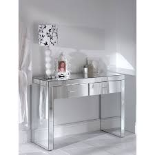 white high gloss finish wooden vanity dressing table with mirror