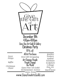 join us for the gift of art